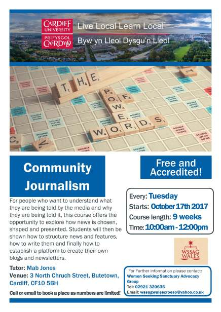 Community Journalism WSSAG Oct 17